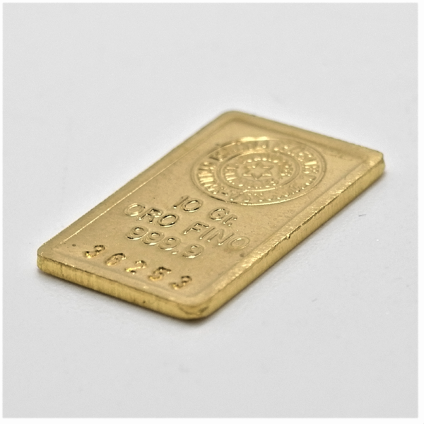 Lingote de oro 10 gramos 9999 BLISTER Marca SEMPSA