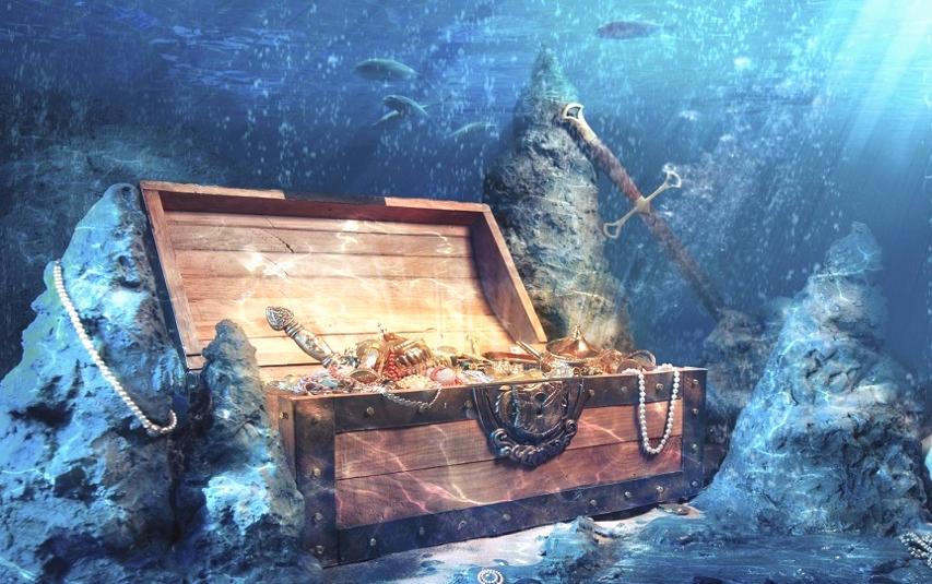 tesoros bajo el mar