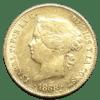 Moneda Oro 4 Pesos Reina Isabel II Año 1868 España
