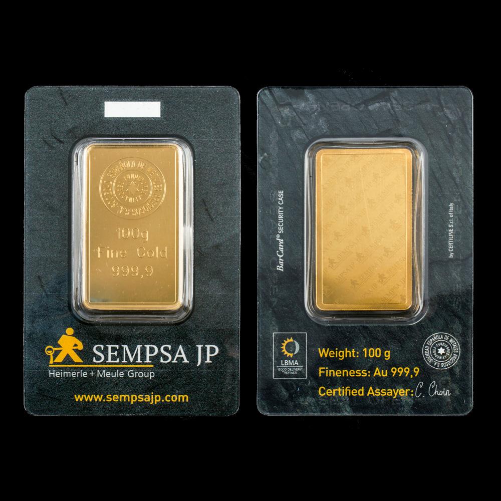 Comprar Lingotes de Oro con sello de seguridad Blíster