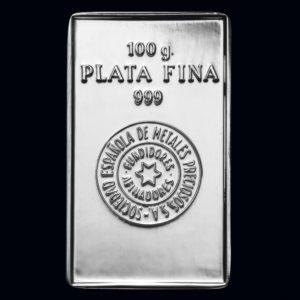 Lingote plata 100gr