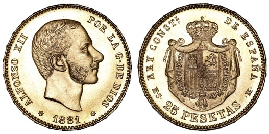 Las monedas de Alfonso XII