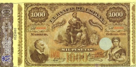 billete antiguo lope de vega