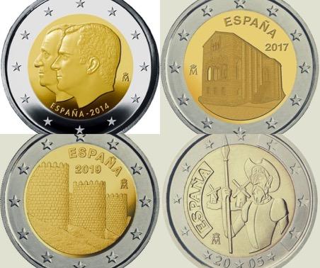 monedas de dos euros conmemorativas