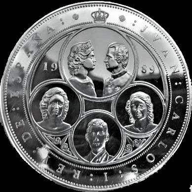 moneda de plata 100000 pesetas 1989
