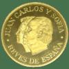 Medalla Oro Bodas de plata de JuanCarlos y Sofia en el trono de ESPAÑA 1975-2000