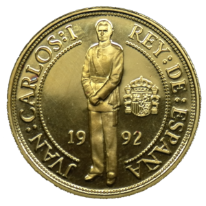 Moneda oro 40.000 Pesetas Quinto centenario Carlos I Año1989 serie IV oro PROOF. España