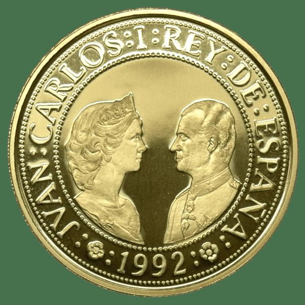 Moneda oro 80.000 Pesetas Quinto centenario Carlos I Año1989 serie IV oro PROOF. España