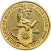 Moneda 1 Onza Oro 100 Libras Gran bretaña 2020 Series Queen's Beasts LEÓN BLANCO DE MORTIMER (White Lion of Mortimer)