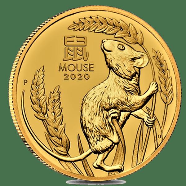 Moneda 1 Onza de oro 100 dollares año del RATÓN 2020 AUSTRALIA