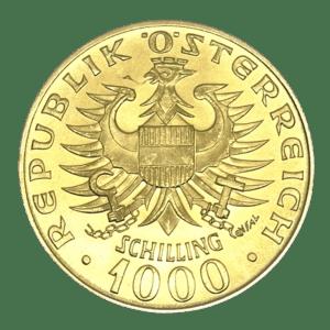 Moneda de Oro 1000 Chelín / Schilling Babenberger Oro varios años AUSTRIA