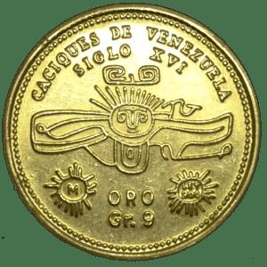 Moneda/Medalla de Oro URIMAR Serie Caziques de Venezuela