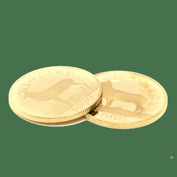 Moneda de oro 50 Ecus Año 1990 Irlanda