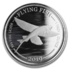 Moneda ONE DOLLAR 1 Onza Plata Flying Fish / Pez Volador BARBADOS 2019