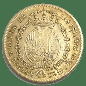 Moneda Oro 100 Reales Isabel II. Año 1850 ESPAÑA