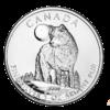 Moneda 1 Onza Pata 5 Dolares Lobo 2011 Canada.