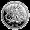 Moneda 1 Onza Plata Angel VS dragón 2018 ISLE OF MAN