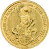 Moneda 1 Onza Oro 100 Libras Gran bretaña 2020 Series Queen's Beasts WHITE HORSE
